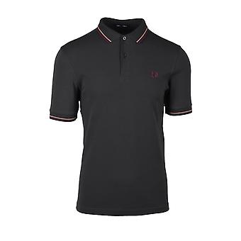 Fred Perry Twin Tipped Polo Shirt Anthrazit/Burlwood/Mahogany
