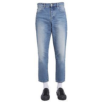 Ami H20hd204601480 Men's Blue Cotton Jeans