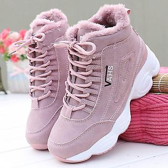 Winter Plus Velvet High-top Students Thick-soled Cotton Sneakers