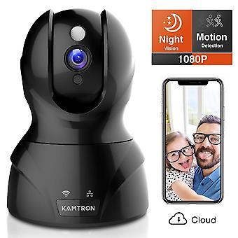 Kamtron security camera 1080p pet camera wireless indoor pan/tilt/zoom home camera baby monitor ip c