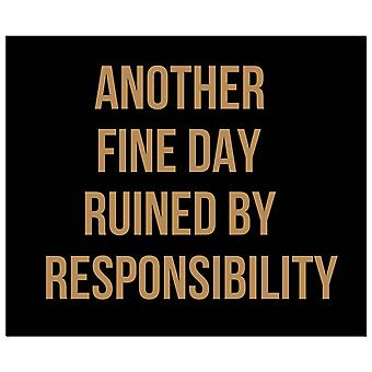 Hill Interiors Another Fine Day Ruined Foil Plaque