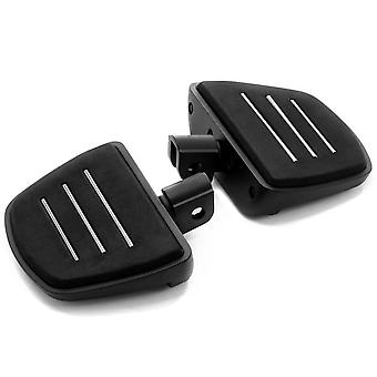 Black Mini Board Floorboards Footpegs Compatible with Suzuki Boulevard M50 2005-2018 (Front Only)