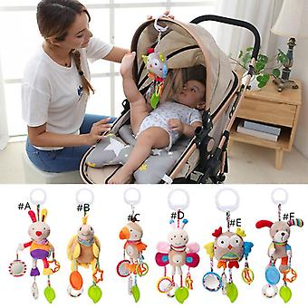 Baby Crib Hanging Toy Rattle Newborn Baby Infant Stroller Plush Toys Hand Bell Baby Stroller Crib Hanging Rattle Newborn Bed Car