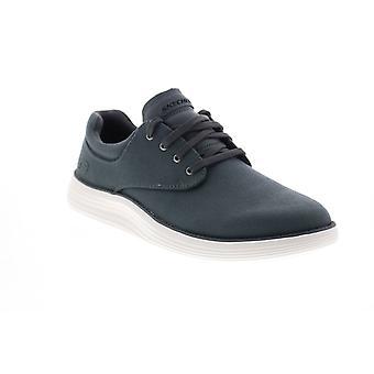 Skechers Status 2.0 Burbank Herren grau Canvas Lifestyle Sneakers Schuhe