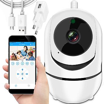 Wifi IP nanny camera with two-way intercom - white