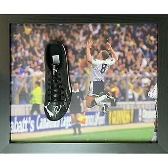 Tottenham Hotspur Gascoigne Signed Boot (Framed)