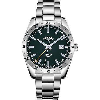 Rotario GB05176-24 Hombres's Henley Green GMT Reloj de pulsera
