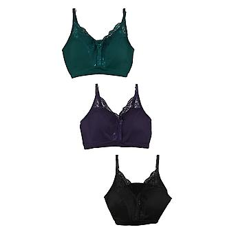 Rhonda Shear DPack Of 3 Pin Up With Lace Back Detail Purple 720-488