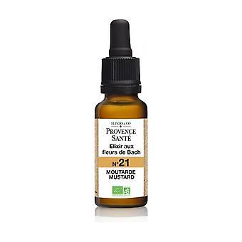 ORGANIC mustard 20 ml of floral elixir