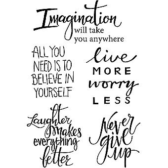 Woodware Clear Singles Imagine Vers 4 in x 6 in Stempel