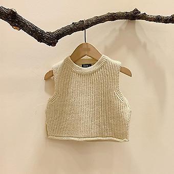 Vauvan kiinteä hihaton neulepusero pusero liivit toppaat