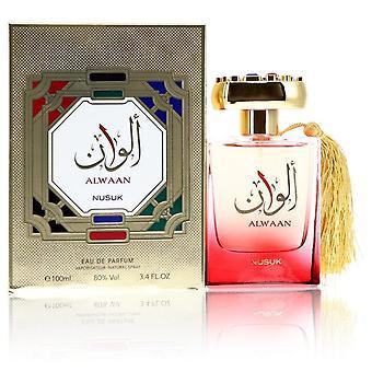 Alwaan Eau De Parfum Spray (Unisex) By Nusuk 3.4 oz Eau De Parfum Spray