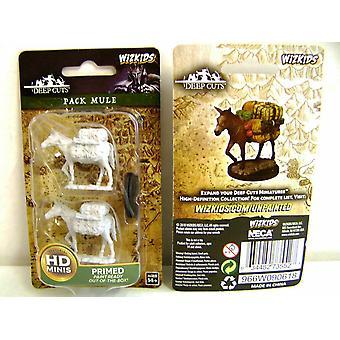 Wizkids Deep Cuts Unpainted Miniatures Pack Mule (Pack of 6)