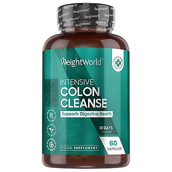 Intensive Colon Cleanse & Detox 60 Capsules -10 days Course for bowel and gut cleanse