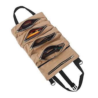 Roll-Tool Multi-Purpose-up Tasche Schraubenschlüssel Tasche hängen den Reißverschluss Träger Tasche Leinwand Auto Veranstalter 5 Taschen tragbar