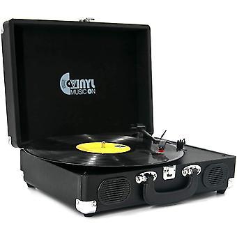 Giradischi, musica in vinile su giradischi in vinile con 2 altoparlanti integrati, lp in vinile portatile a 3 velocità pl wof43497