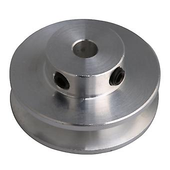 31x15x5MM Silver Alloy Single Groove 5MM Bore Step Pulley for PU Belt
