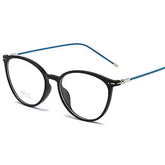Sand Black Nearsighted Spectacle Steel Oval Eyeglasses