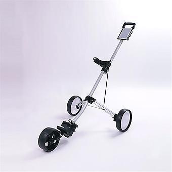 Manuell vikbar golfbollväska, dragvagn, fällbar aluminiumvagn