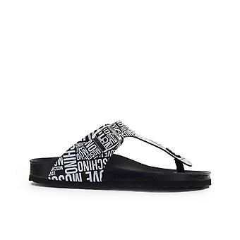 Liebe Moschino schwarz weiß Flip Flops