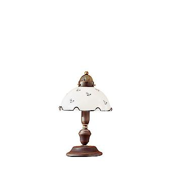 Kolarz NONNA - Stuga Stil Glas Dome Bord Ljus Matt Antik Mässing, 1x E27