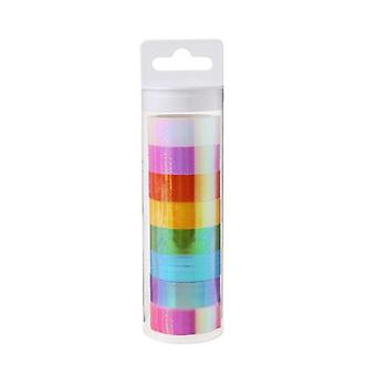 Rhythmic Gymnastics Decoration Holographic Glitter Tape Ring, Stick Accessory,