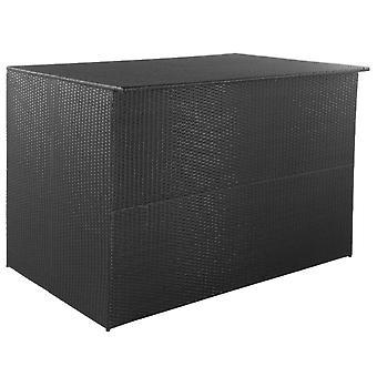 Garden Storage Box Black 150x100x100 Cm Poly Rattan
