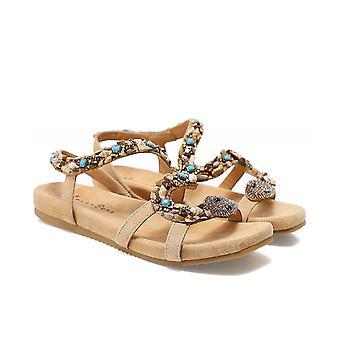 Alma en Pena Embellished Suede Snake Sandals