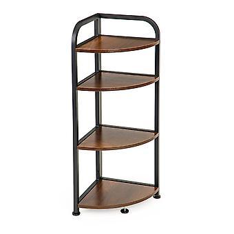 Gabinete de esquina 4 estantes – 45x32x89,5 cm – Madera – Mesa auxiliar
