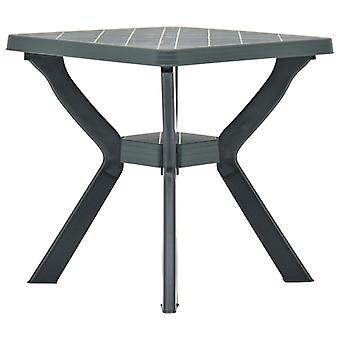 vidaXL Bistro table green 70x70x72 cm plastic