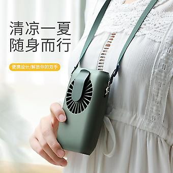 Mini fan halter handheld leaf-free lazy leaf-free ultra-quiet electric student dormitory creative