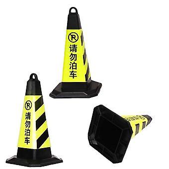 Veiligheid vierkante kegels waarschuwing rubber verkeersbord