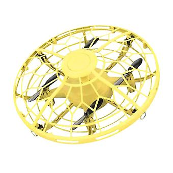 Helicopter Ufo Aircraft Automatic Induction Sensor Flying(Yellow)