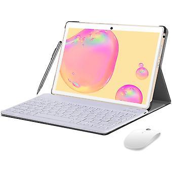 FengChun Tablet 10 Zoll 4G LTE, Android 10 Tablet mit Tastatur, 4 GB RAM + 64 GB ROM, 128 GB