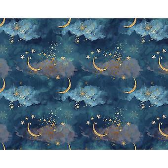 Valokuvaus Backgroun, Gold Moon Tähdet, Flash, Vastasyntynyt tausta vauva suihku,