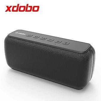 Portable outdoor subwoofer bluetooth speaker waterproof TF endurance 15 hours (black)