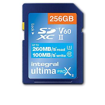Zintegrowana karta SD O przekątnej 256 GB UHS II SDXC UHS-2 U3 Cl10 V60 do R-260 W-100 Mbs