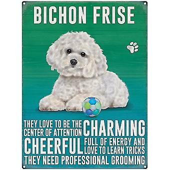 Bichon Frise Wall Plaque by The Original Metal Sign Co