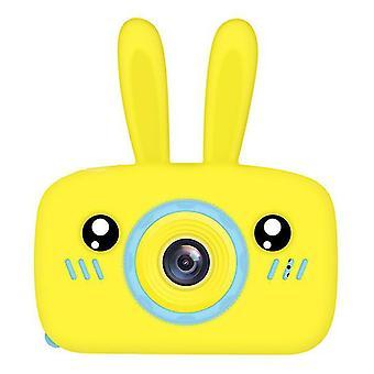 Přenosný digitální mini fotoaparát Full-hd 1080p pro děti (žlutá)