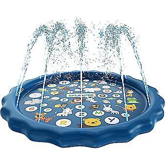 3-i-1 Splash Pad Sprinkler Wading Pool Udendørs Spillepude