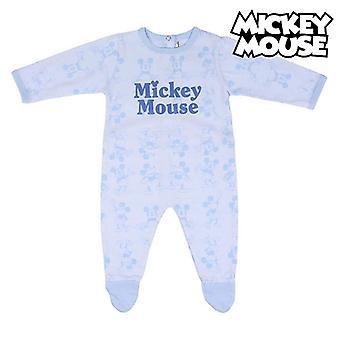 طفل طويل الأكمام رومبر بدلة ميكي ماوس الأزرق