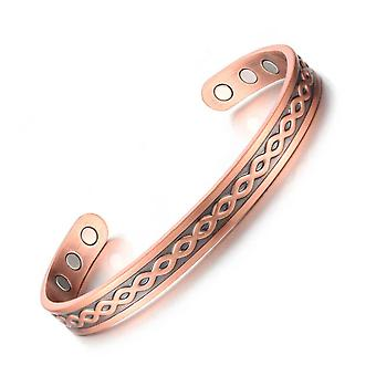 Pulseira de cobre Pulseira Magnética Totem C-shaped Lady Aliviando Joias de Fadiga