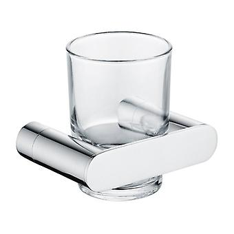Bathroom Toothbrush Holder Glass Cup Tumbler Holders Bath Cups Chrome Polished Wall Mounted Toilet