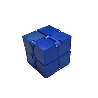 Uendelig Rubiks terning legetøj lige ved hånden, Dekompression Rubiks terning legetøj (blå)