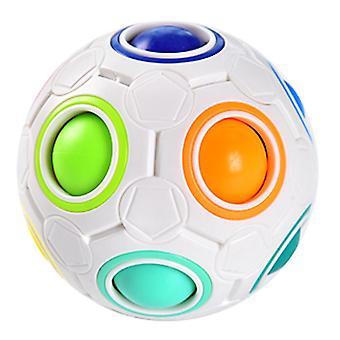 Regnbue bold magiske terning legetøj, puslespil magiske regnbue bold