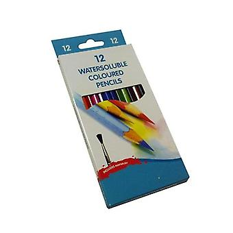 Watersoluble Coloured Pencils 12 Pack
