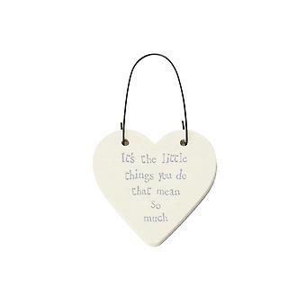 The Little Things You Do - Mini Wooden Hanging Heart - Cracker Filler Gift