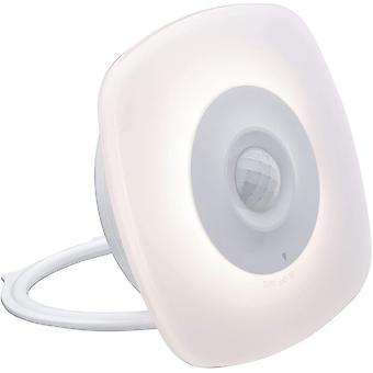 Lumière de nuit mobile LED Viby carré 0.7 watt avec détecteur de mouvement plastique blanc 3000 K blanc chaud,(blanc)