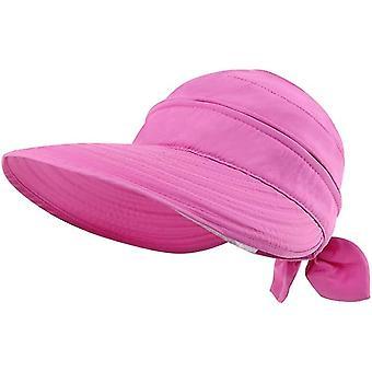 Semplicità Cappelli Upf 50+ Uv Sole Protettivo Convertible Beach Visor Cappello (Rosa)