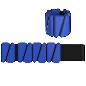 Set Of 2 (1lb Each) Adjustable Wearable Wrist & Ankle Weights(Blue)